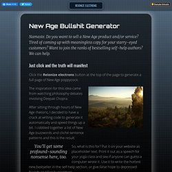 New-Age Bullshit Generator