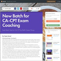 New Batch for CA-CPT Exam Coaching