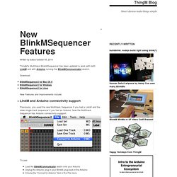 New BlinkMSequencer Features
