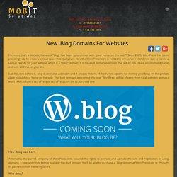 New .Blog Domains for Websites
