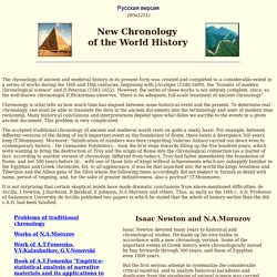 New Chronology of the World History