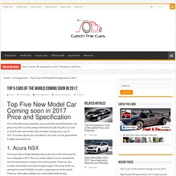 New Coming soon cars in 2017