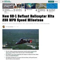 New SB-1 Defiant Helo Hits 238 MPH