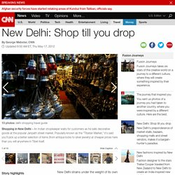 New Delhi: Shop till you drop