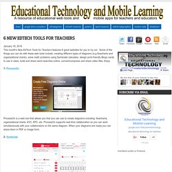 Educational Technology and Mobile Learning: 6 New EdTech Tools for Teachers
