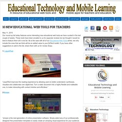 10 New Educational Web Tools for Teachers