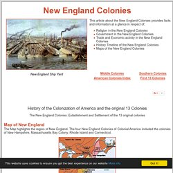 New England Colonies ***