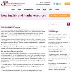 New English and maths resources