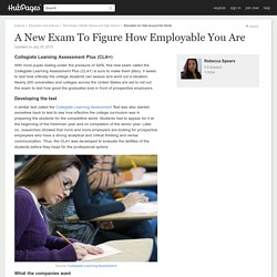 A New Exam To Figure How Employable You Are