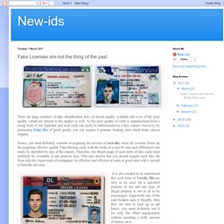 Alluring Fake License and IDs at Affordable Prices