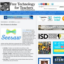 New Features in SeeSaw