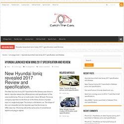 New Hyundai Ioniq 2017