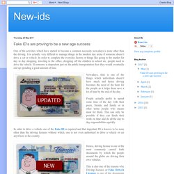 Fake IDs assembled by experts