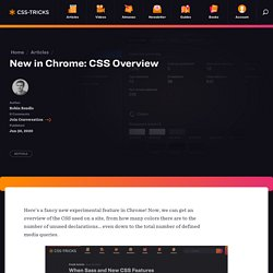 New in Chrome: CSS Overview