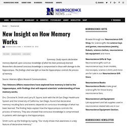 New Insight on How Memory Works