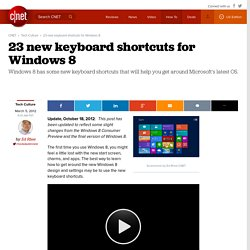 23 new keyboard shortcuts for Windows 8