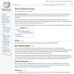 New Leaders Council - Wikipedia