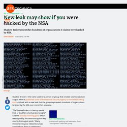 New leak may show if you were hacked by the NSA