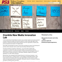 New Media Innovation Lab | The Walter Cronkite School of Journalism and Mass Communication