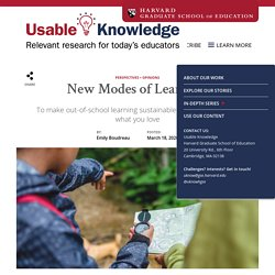 New Modes of Learning