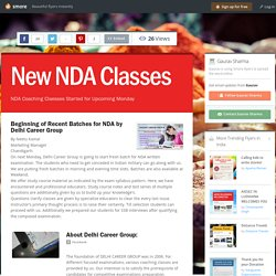 New NDA Classes