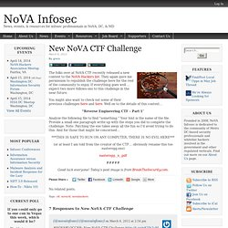 New NoVA CTF Challenge