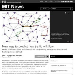 A new way to predict traffic flows