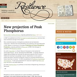 New projection of Peak Phosphorus
