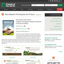 New Report: Farming for the Future