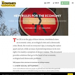 New rules for the economy