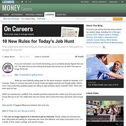 10 New Rules for Today's Job Hunt