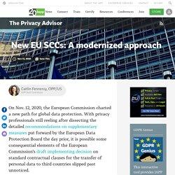 New EU SCCs: A modernized approach