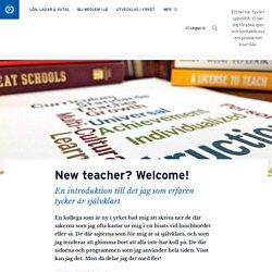 New teacher? Welcome!