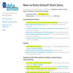 New to Data School? Start here.