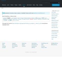 New To WordPress - Where to Start