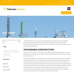 Installations of the New Tower in the USA - Telecom Geneva