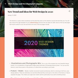 New Trend and ideas for Web Design in 2020