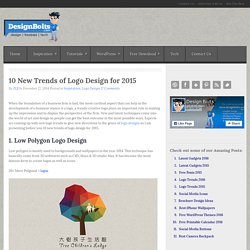 10 New Trends of Logo Design for 2015