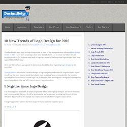 10 New Trends of Logo Design for 2016