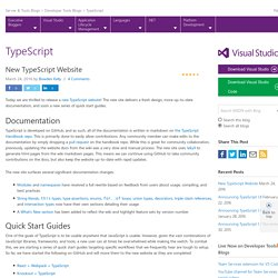 New TypeScript Website