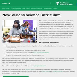 New Visions Science Curriculum