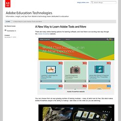 A New Way to Learn Adobe Tools and More