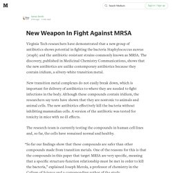 New Weapon In Fight Against MRSA
