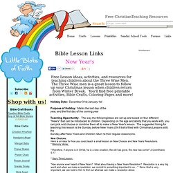 New Year's Bible Lesson, New Year