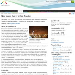 New Year's Eve in United Kingdom