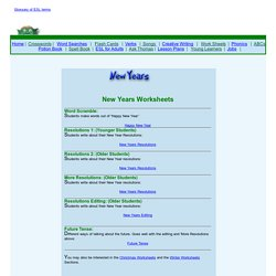 New Year's Worksheets and Activities