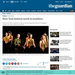 New York fashion week in numbers