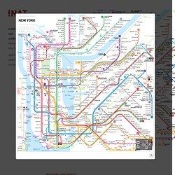Metro kaart NYC