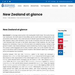 » New Zealand at glance