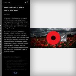 New Zealand at War - World War One